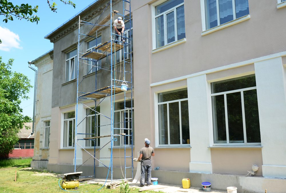 Beginner's Guide to Painting a House with Rendered Walls